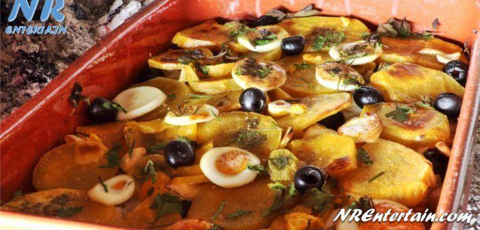 Receita de Bacalhau À Prior De Braga Acompanhado com Batatas Fritas às Rodelas