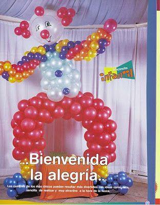 ♥ Compartiendo con mis amigas ♥: ♥ Payaso (Decoracion con globos ) ♥