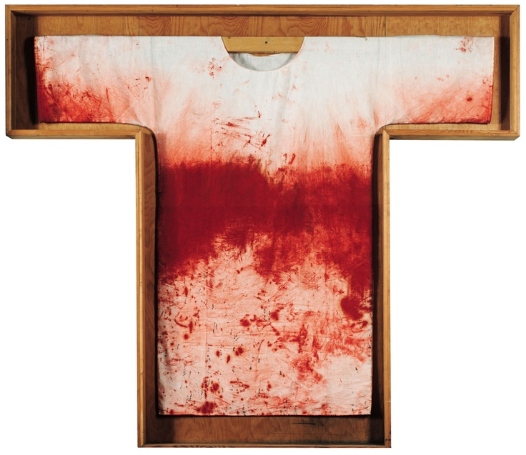 Hermann Nitsch. Red Painting Shirt