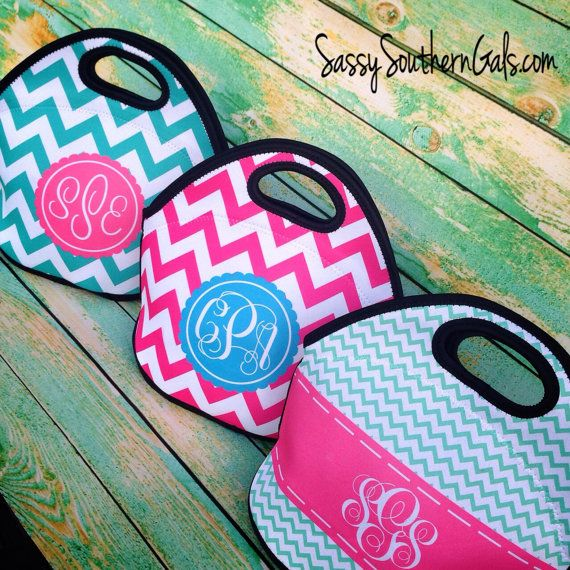 Monogrammed Lunch Tote , Monogrammed Lunch Bag, Personalized Lunch Tote, Monogrammed Lunchbox, Design Your Own Lunch Tote, Mongrammed Gift on Etsy, $36.00