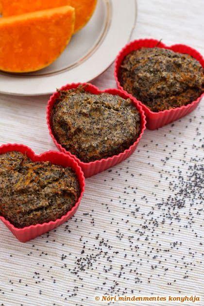Nóri mindenmentes konyhája: Sütőtökös-mákos muffinok