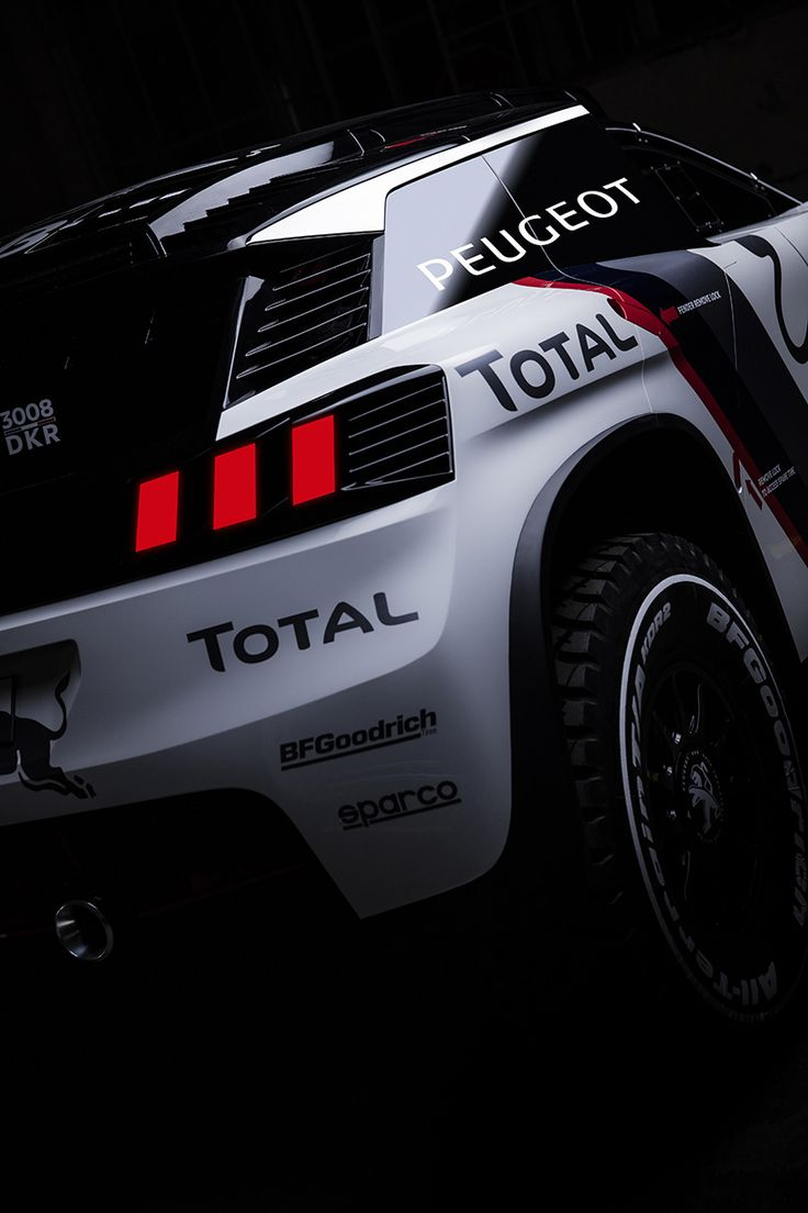 peugeot 3008 DKR race car reveals its aggressive bodywork