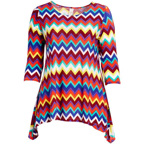 GLAM Red & Blue Chevron Sidetail Tunic ($14) ❤ liked on Polyvore featuring plus size women's fashion, plus size clothing, plus size tops, plus size tunics, plus size, plus size chevron top, chevron tops, blue tunic, plus size red tops and women's plus size tops