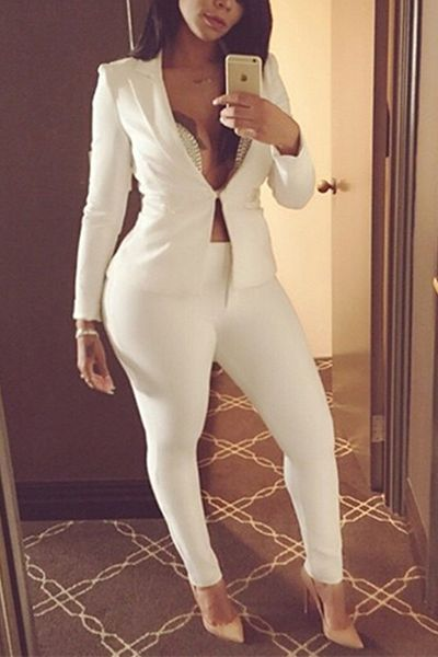 10 Best ideas about All White Outfit on Pinterest  Long cardigan ...