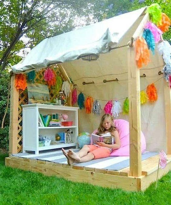 Maak een speciale speelplek voor in de tuin, daar maak je de kids echt blij mee! 9 voorbeelden... - Zelfmaak ideetjes