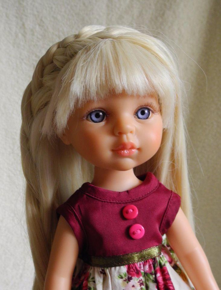 Привет всем бейбиковцам! Наконец закончила я работу над куколкой Керол Paola Reina, купила её с небольшой проблемкой: родные волосы вылазили,