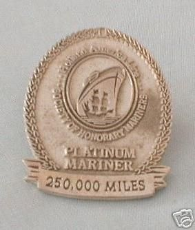 Holland America Lines, 250,000 mi. PLATINUM MARINER Pin | #35158746