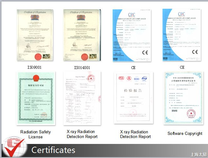 certificates of Techik Instrument which is a one stop solution provider for food safety and public security inspection. Contact info: Toby Chen 0812 6160 3753 tobychen@techik.net