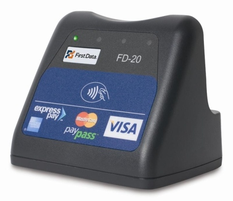 The FD-20 contactless reader processes electronic payments using the latest state-of-the-art technologies, allowing customers to simply wave or tap their card in front of the reader to initiate a transaction.