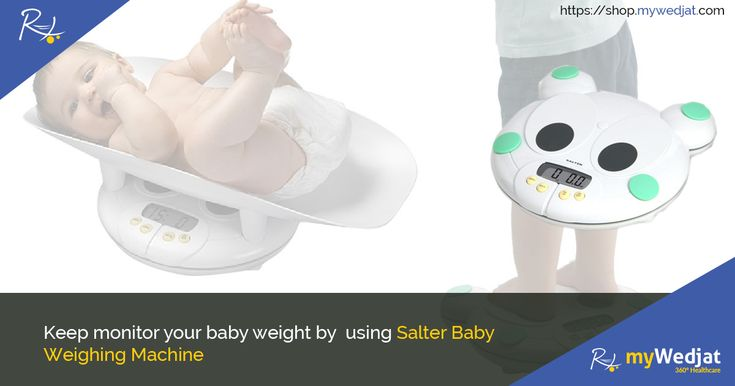 Keep monitoring your baby weight by using Salter Baby Weighing Machine. #WeighingScales #myWedjat
