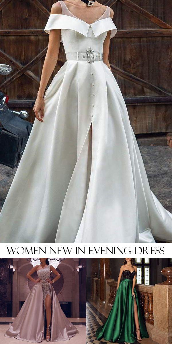 Vintage Pure Colour Boat Neck Maxi Dresses In 2020 Dresses Evening Dress Fashion Evening Dresses