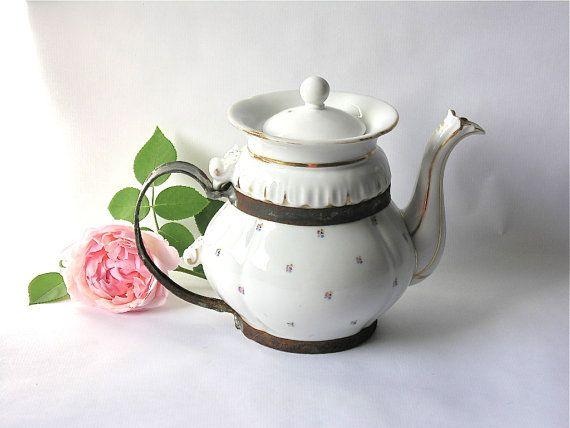 French Antique Beautiful Teapot Unique