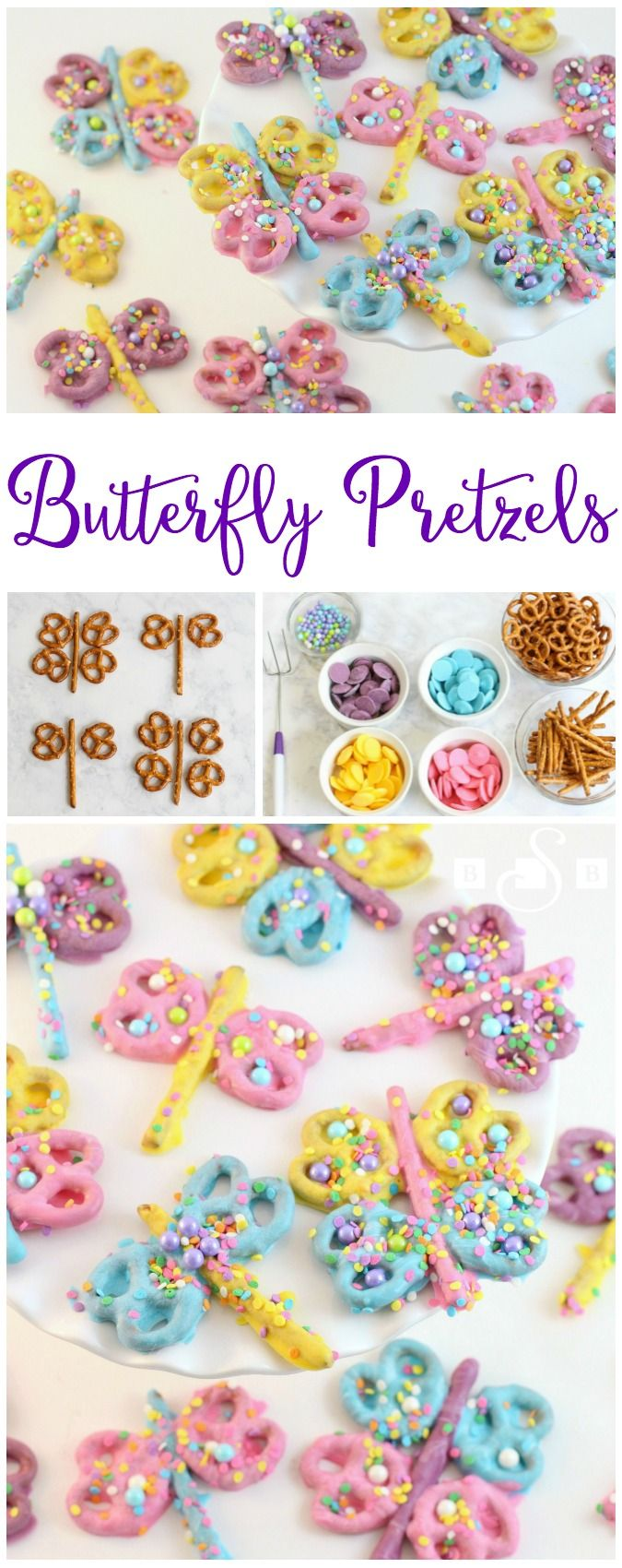 Butterfly Pretzels - Dragonfly Pretzels - Butter With A Side of Bread