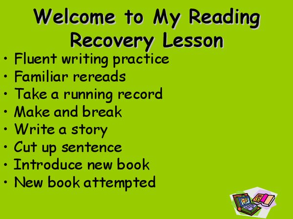 reading recovery - lesson powerpoint outline