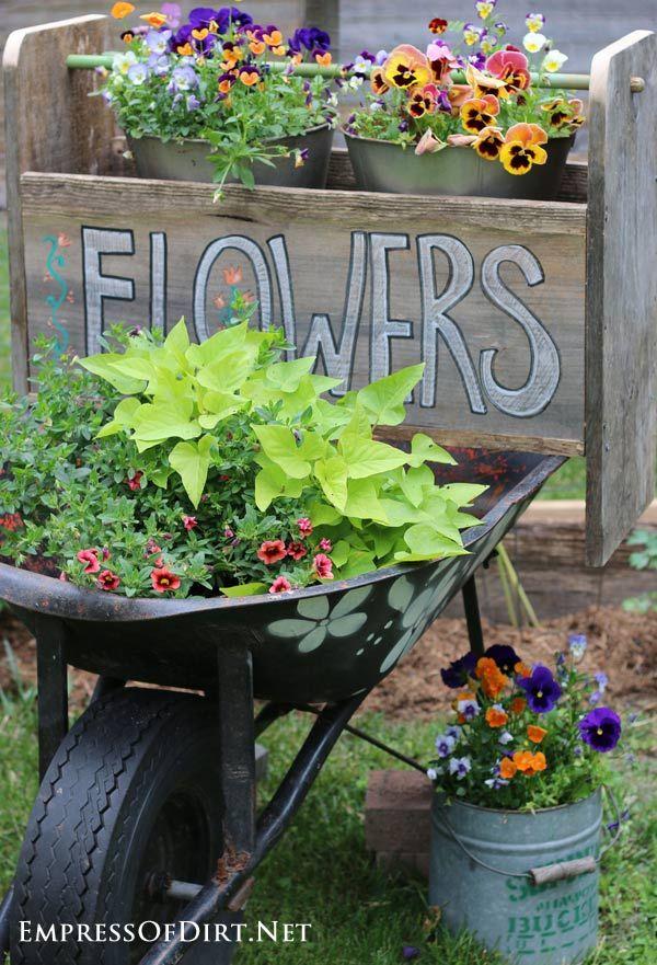 1000 Ideas About Wheelbarrow Garden On Pinterest