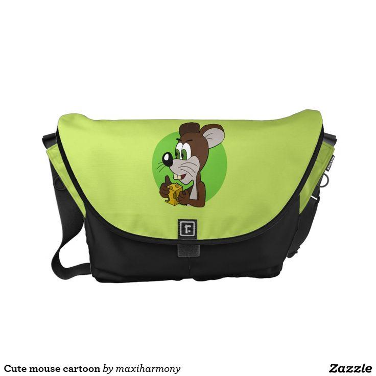 Cute mouse cartoon courier bag