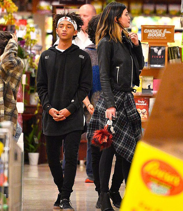 March 9, 2014 -Kylie Jenner & Jaden Smith shopping at Ralph's Supermarket in Studio City.