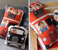 Put it on the to-do-list!: Buses, Fabrics Site, Kids Pillows, Hamburgerlieb Spoonflower, Baby Boys, Bus Cushions, Cushions Fabrics, Diy Pillows, Double Decker
