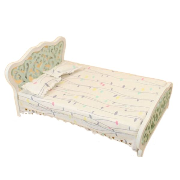 Find More Doll Houses Information about New 1/12 Dollhouse Miniature Furniture bedroom carved bed princess bed Light green,High Quality miniature dollhouse lighting,China dollhouse miniature lighting Suppliers, Cheap miniature dollhouse from Beautiful Marie Store on Aliexpress.com