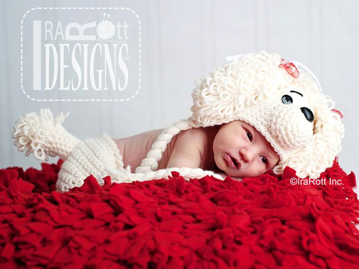 PATTERN Loopy the Poodle Hat & Diaper Cover Crochet PDF Pattern