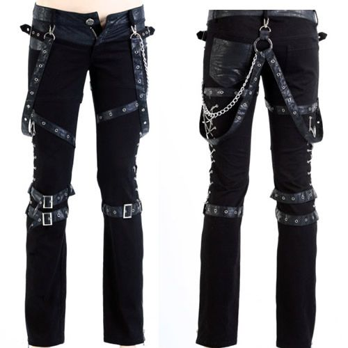 Gothic Punk Clothing | Black Heavy Metal Gothic Punk Rock Fashion Pants Clothing Shops SKU ...