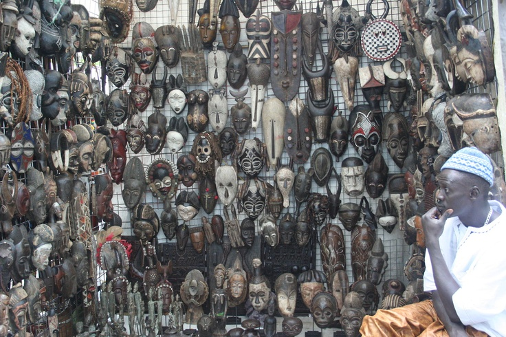 Image of the Day is of Moustapha and his Masks.    He was in a very contemplative mood when we visited him last week.    In the coming weeks we will be adding a ton of more African Masks.    In the meantime please take a look at the masks we have herehttp://www.stribal.com/artworks/masks.html