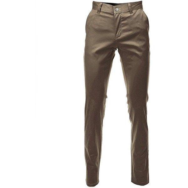FLATSEVEN Mens Slim Fit Chino Pants Trouser Premium Cotton ($26) ❤ liked on Polyvore featuring men's fashion, men's clothing, men's pants, men's casual pants, mens cotton pants, mens slim fit chino pants, mens chino pants, mens slim pants and mens chinos pants