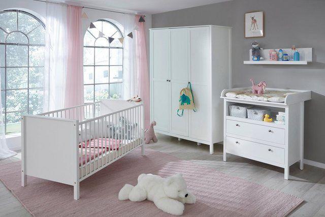 Babyzimmer Komplettset Westerland 4 Tlg Bett Wickelkommode