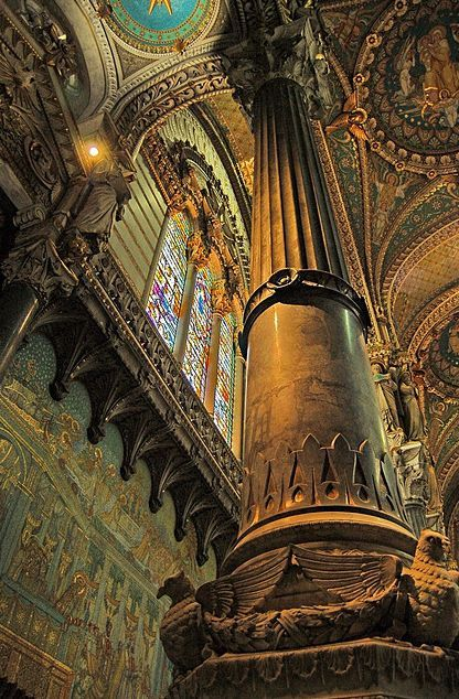 Pillar Of The Earth, Fourvière Basilica, Lyon, France