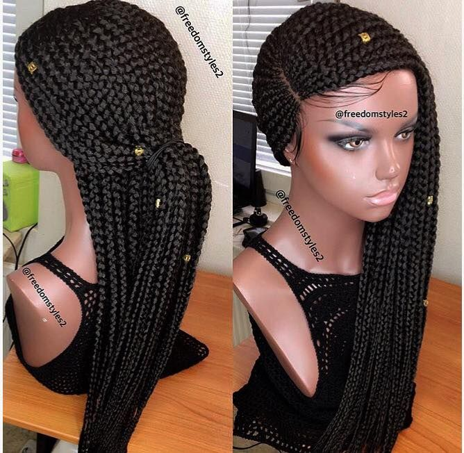 Cornrows Wig From Freedom Styles Braided Hairstyles Box Braids Styling Blonde Box Braids