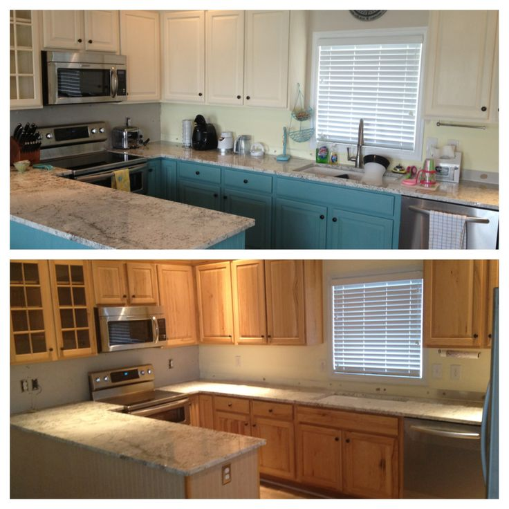 Painting Kitchen Cabinets White Before And After Pictures Entrancing Decorating Inspiration