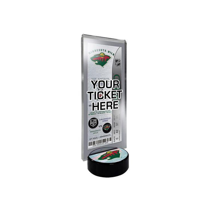 Minnesota Wild Hockey Puck Ticket Display Stand, Multicolor