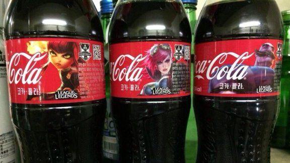 I campioni di League of Legends raffigurati sulle bottiglie di Coca Cola