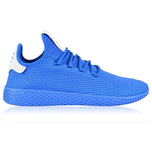 ADIDAS ORIGINALS Pw Tennis Trainers ($105) ❤ liked on Polyvore featuring shoes, sneakers, tennis sneakers, tennis trainer, adidas originals sneakers, laced up shoes and laced shoes