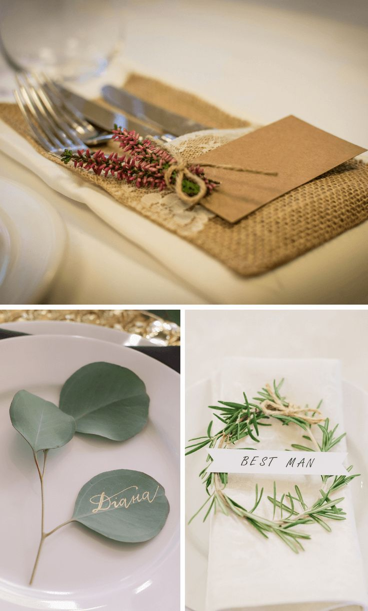 30 simple ideas for DIY place cards – Mesa Posta