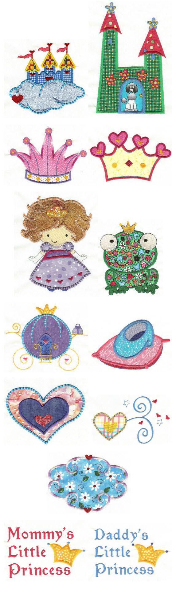 Fairytale Princess Applique | Emb - Applique | Pinterest