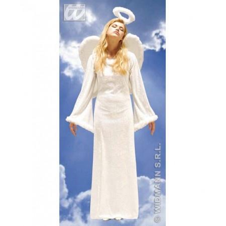 disfraz de angel lujo el disfraz incluye vestido decorado con marabu alas y aureola