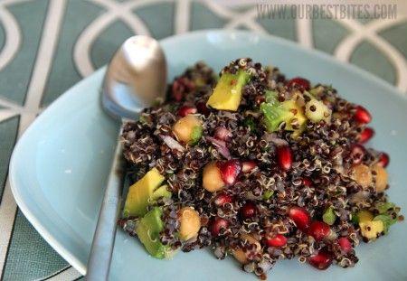 citrus quinoa pomegranate salad: Quinoa Recipe, Citrus Pomegranates Quinoa, Avocado Salad, Salad Recipe, Pomegranates Seeds, Quinoa Salad, Northern Beans, Pomegranates Salad, Quinoa Pomegranates
