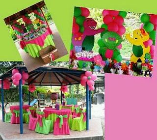 Barney Children's Parties Decoration