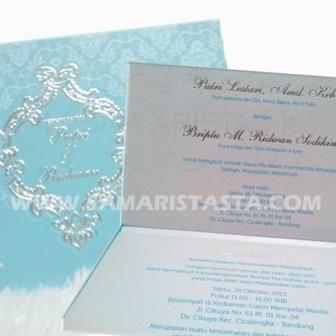 Selamat menempuh hidup baru untuk pasangan Putri Lestari, Amd. Keb & Briptu M. Ridwan Sodikin ..  Semoga jadi keluarga sakinah, mawadah, warrahmah.. Bahagia selalu yaa.. amin ^_^ #kartu #undangan #pernikahan #pengantin #perkawinan #acara #cetak #samarista #wedding #invitation #promo #best #seller