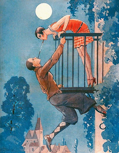 vintagegal:  Illustration by Vald'Es for La Vie Parisienne, 1928  (via)