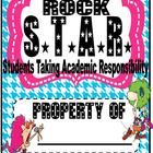 STAR - Students Taking Academic Responsibility  A binder cover for student's organizational binder.     Check out the other items in my store matching...