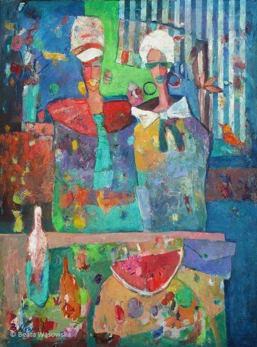 Stany skupienia koloru, 120x90, olej na płótnie, nr kar. 30-84, Beata Wąsowska