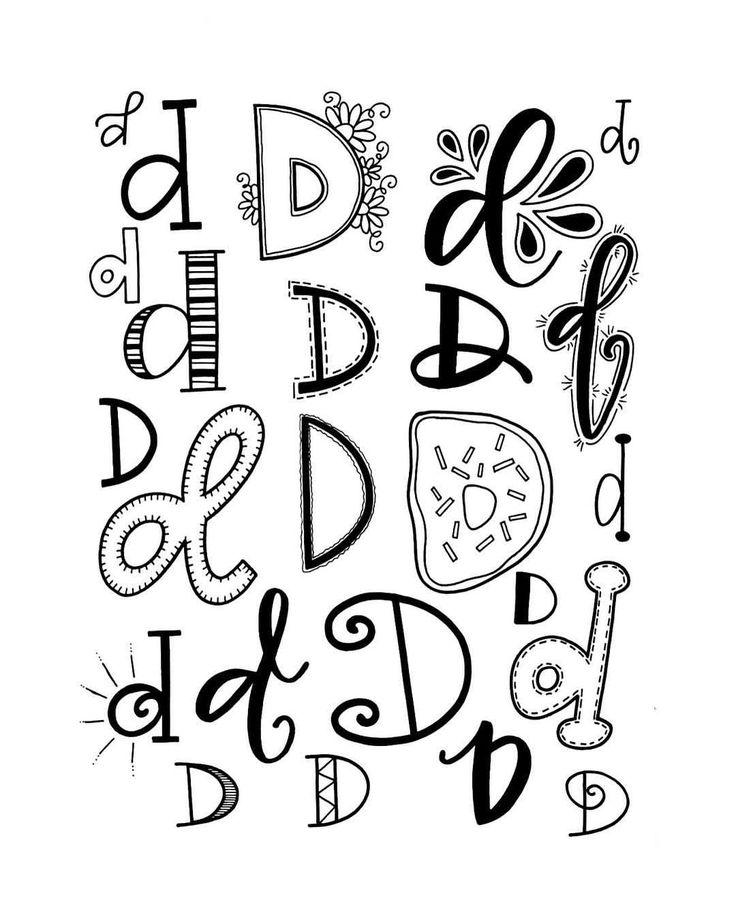 "635 Likes, 13 Comments - Jessie Arnold (@mrs.arnoldsartroom) on Instagram: ""Letter D! #handletteredabcs #handletteredabcs_2017 #abcs_d #d #letterd #lettering #handlettering…"""