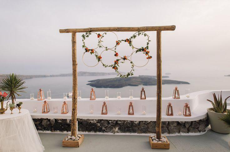 floral hoop backdrop | eInvite.com