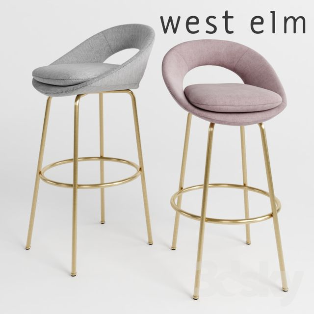 Groovy West Elm Orb Bar Counter Stools 3Dsmax Chairs Green Gmtry Best Dining Table And Chair Ideas Images Gmtryco