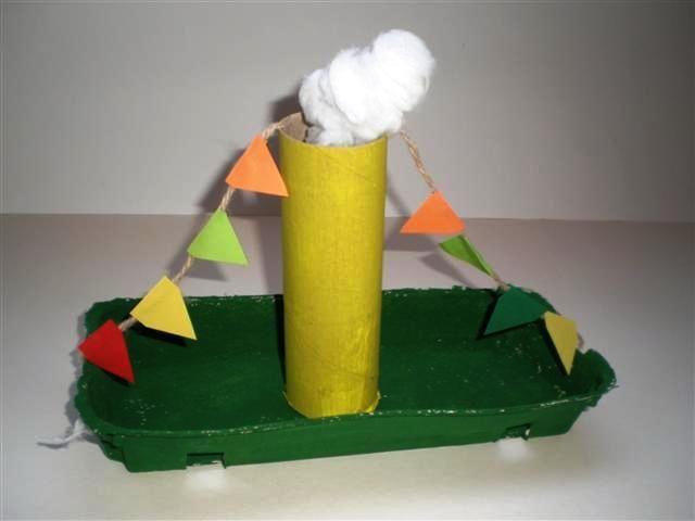 Knutselen Stoomboot van Sinterklaas