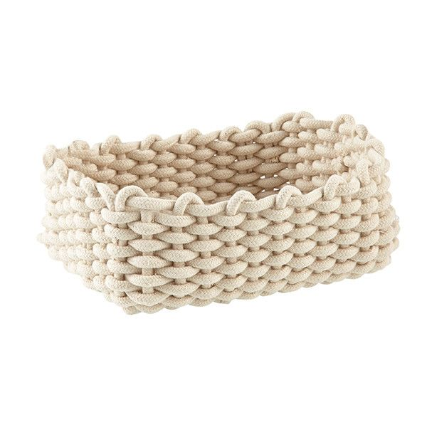 Nursery Storage Bin Cotton Cable Knit U2013 Wild Dill