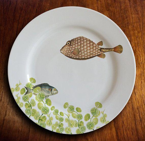 "pescado plato-""geomertrique"""