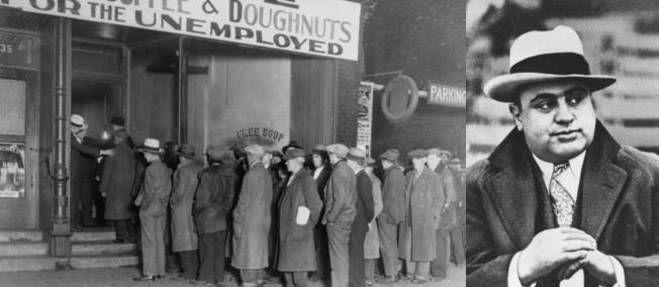 4 novembre 1930 ♦ Pendant la Grande Dépression, Al Capone invente les restos du coeur.